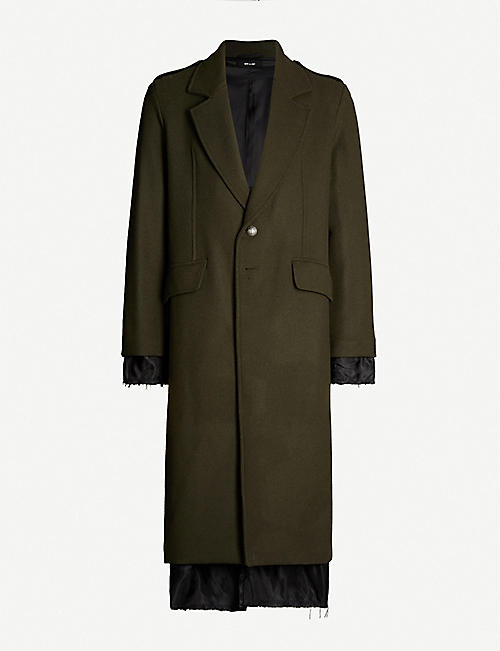 ISABEL BENENATO Military wool-blend coat
