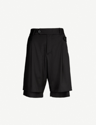 ISABEL BENENATO Double-layered tailored-fit wool shorts