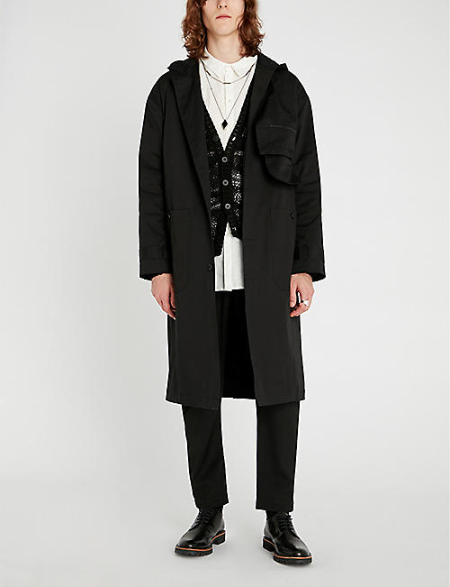 ISABEL BENENATO Hooded stretch-cotton coat