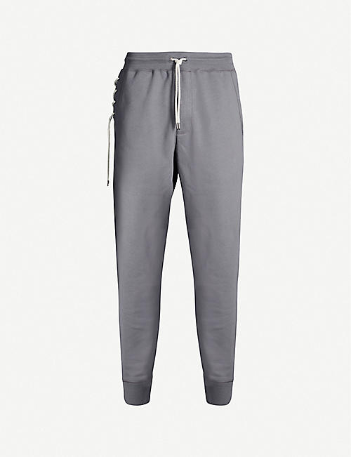 CRAIG GREEN Lace-trimmed cotton jogging bottoms