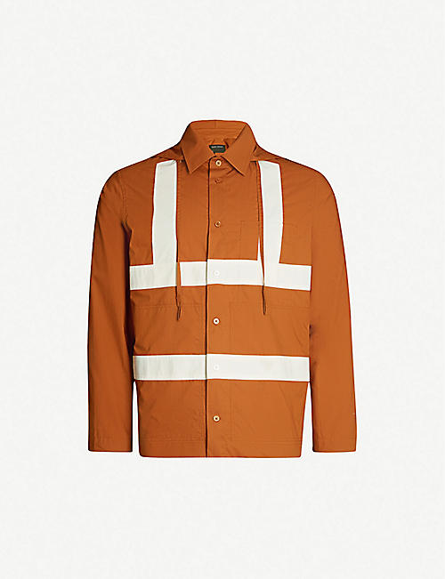 CRAIG GREEN Hooded panelled cotton shirt