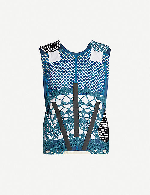 CRAIG GREEN Crocheted wool and cotton-blend gilet