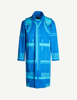 CRAIG GREEN Geometric-patterned cotton parka