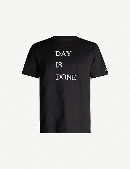 THE SOLOIST Day is Done branded-print cotton-jersey T-shirt