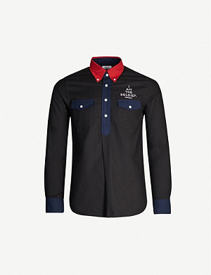 THE SOLOIST Logo-print cotton-jersey polo shirt