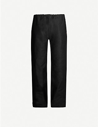 THE SOLOIST: High-rise tapered cotton-blend trousers