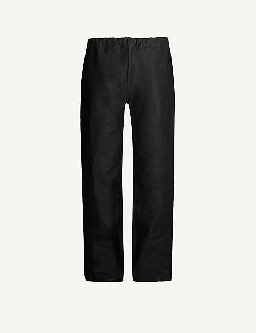 THE SOLOIST High-rise tapered cotton-blend trousers