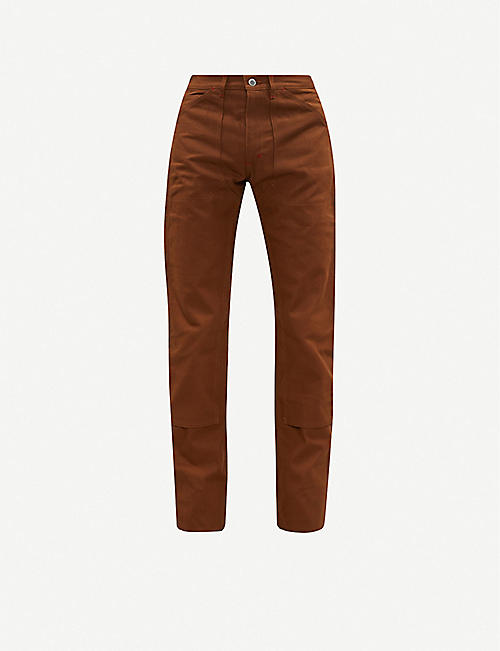 THE SOLOIST Double Knee tapered cotton-twill trousers
