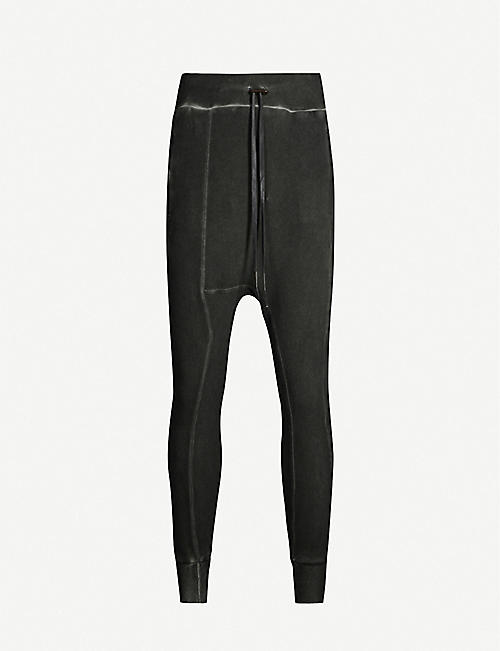 BORIS BIDJAN SABERI Dropped-crotch stretch-cotton jogging bottoms