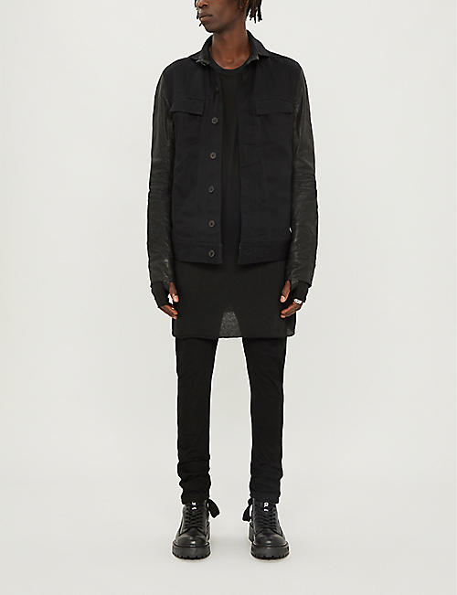 BORIS BIDJAN SABERI Longline cotton and cashmere-blend top