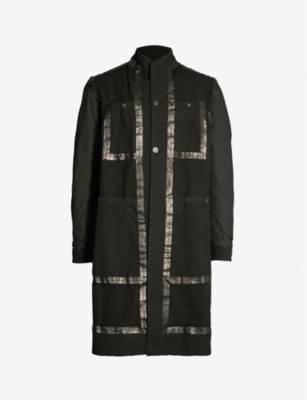 BORIS BIDJAN SABERI Tape-trimmed cotton-canvas coat
