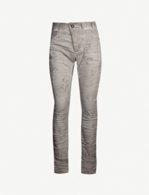 BORIS BIDJAN SABERI Dropped-crotch slim-fit straight jeans