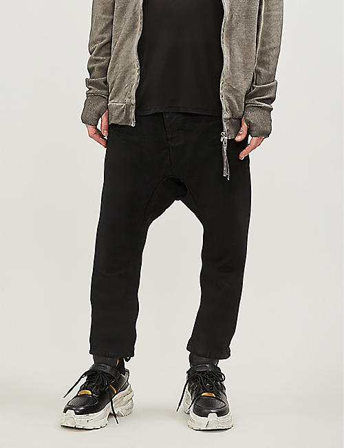 BORIS BIDJAN SABERI Asymmetric regular-fit tapered jeans