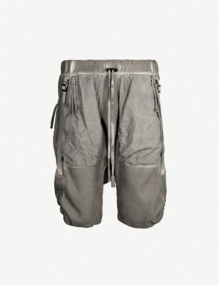 BORIS BIDJAN SABERI Dropped-crotch cotton shorts