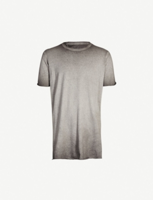 BORIS BIDJAN SABERI Distressed cotton-jersey T-shirt