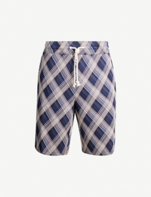 MAISON MARGIELA Checked cotton-blend shorts