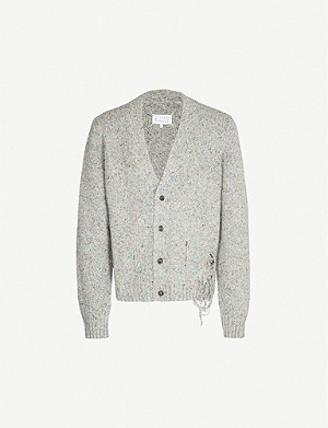 MAISON MARGIELA Laddered wool-blend cardigan