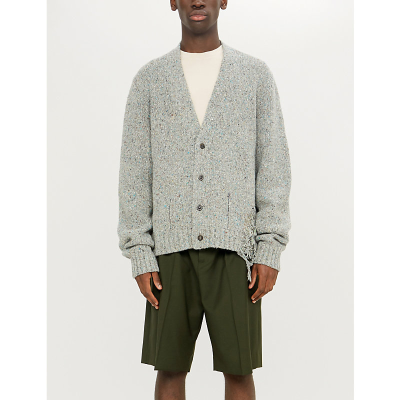 Maison Margiela Wools LADDERED WOOL-BLEND CARDIGAN