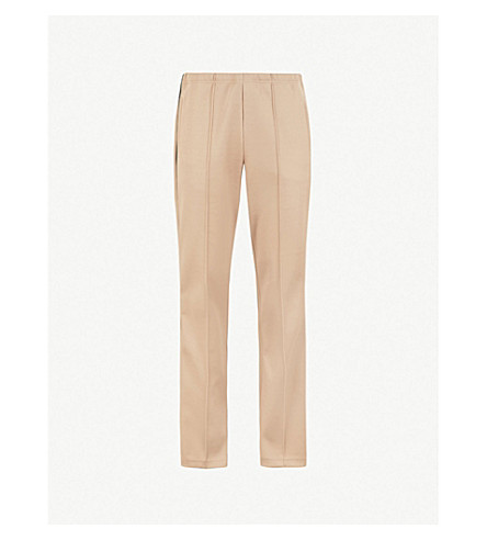 MAISON MARGIELA Side-stripe regular-fit straight woven trousers (Sand