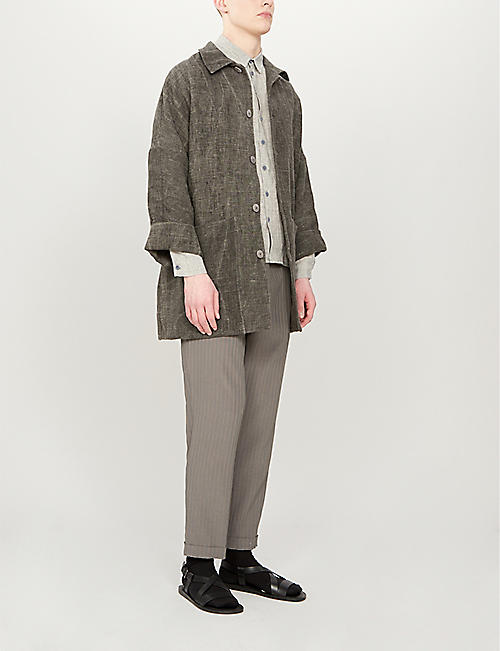 TOOGOOD The Doorman distressed linen coat