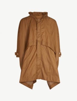 TOOGOOD Flared waxed-cotton hooded cape