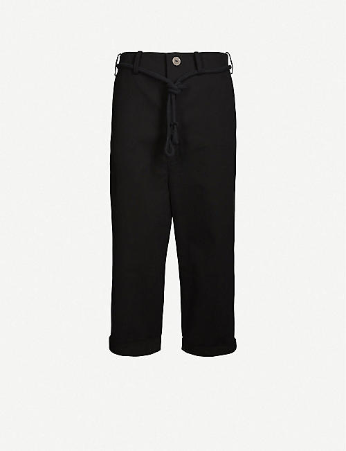 TOOGOOD The Sculptor straight-leg cropped cotton-twill trousers