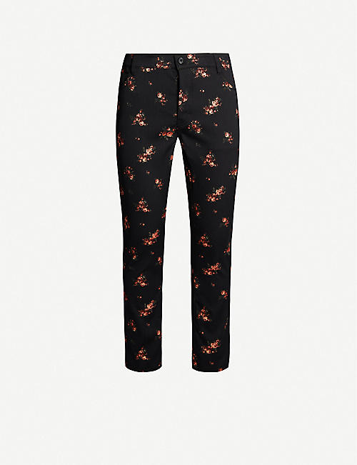 ANN DEMEULEMEESTER Winona floral-embroidered straight cotton-blend trousers
