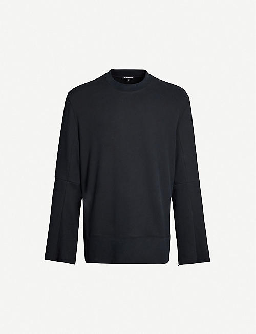 ANN DEMEULEMEESTER Raw-edged cotton-jersey sweatshirt