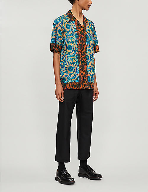 bc0cd4743274 DRIES VAN NOTEN Floral-print relaxed-fit satin-twill shirt