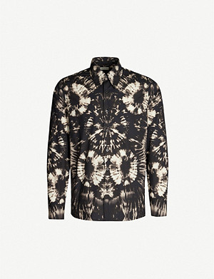 DRIES VAN NOTEN Slim-fit tie-dyed cotton shirt
