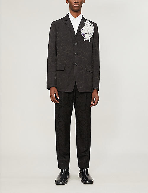 DRIES VAN NOTEN Embroidered loose-fit cotton shirt