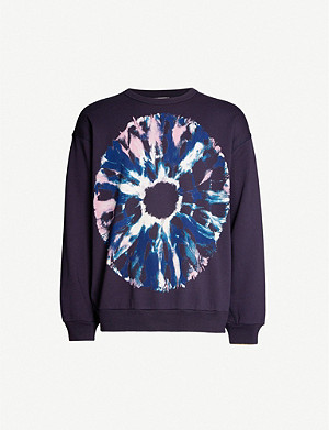 DRIES VAN NOTEN Tie-dye print cotton-jersey sweatshirt