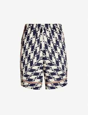 DRIES VAN NOTEN Verner Panton satin shorts