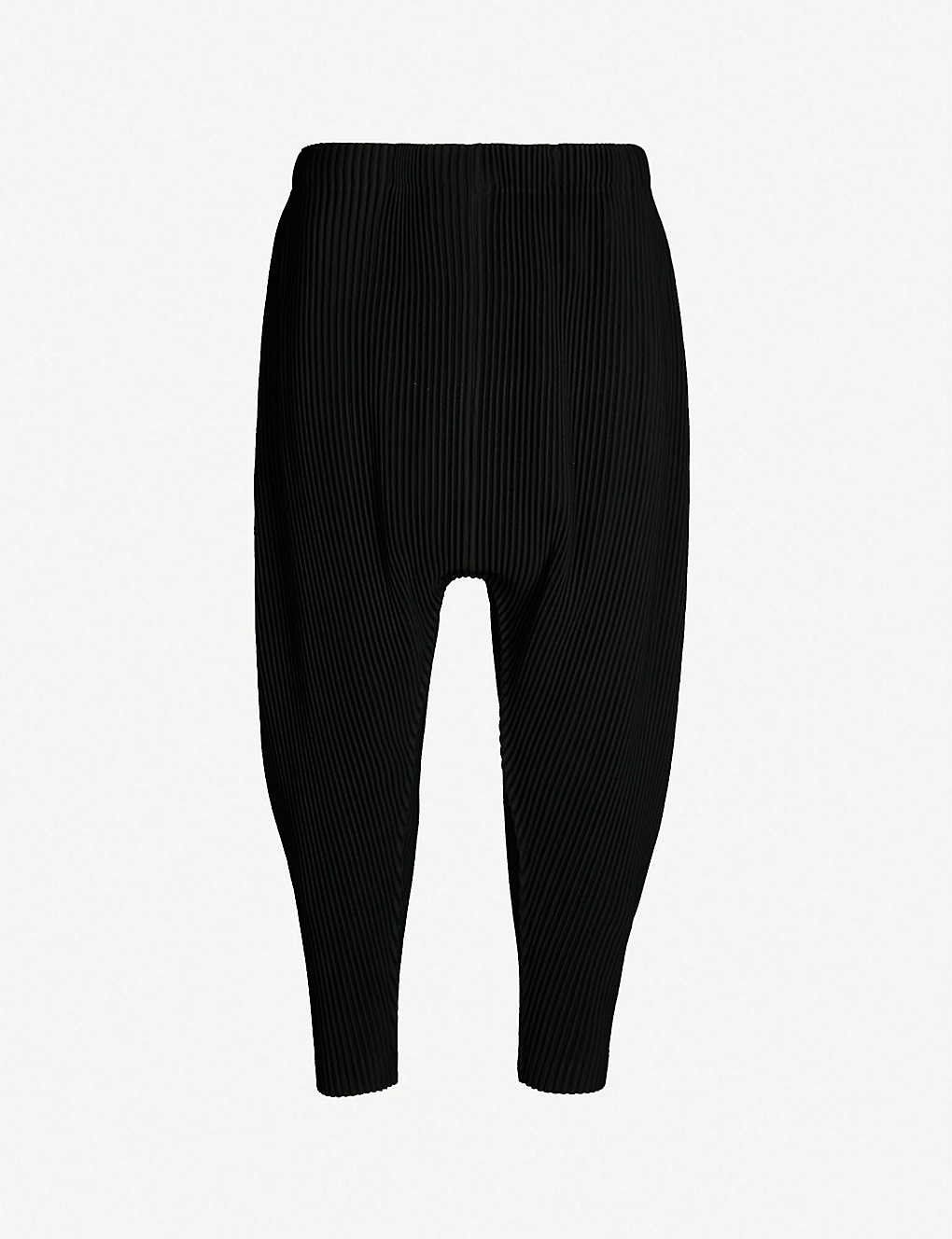 af84ac656 HOMME PLISSE ISSEY MIYAKE - Pleated relaxed-fit tapered trousers    Selfridges.com