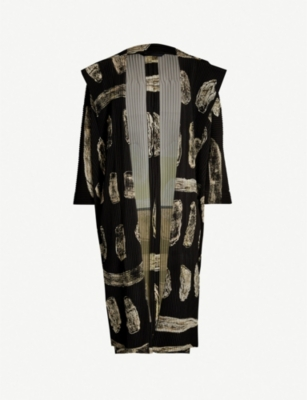 HOMME PLISSE ISSEY MIYAKE Body Painting abstract-print pleated jacket