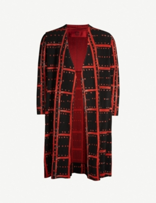 HOMME PLISSE ISSEY MIYAKE Pleated checked coat
