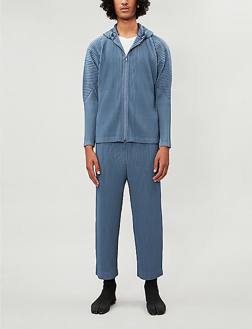HOMME PLISSE ISSEY MIYAKE Cropped mid-rise tapered pleated trousers