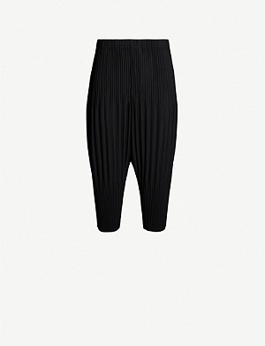 HOMME PLISSE ISSEY MIYAKE Basic Straight pleated crepe trousers