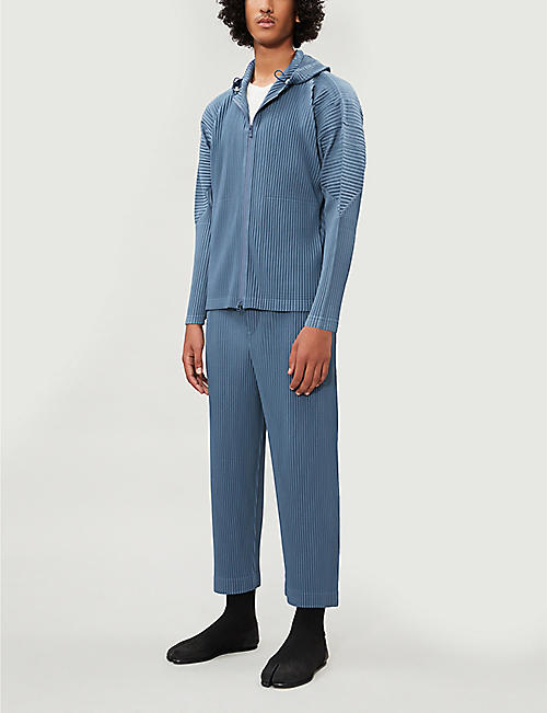 HOMME PLISSE ISSEY MIYAKE Zip-through pleated hoody