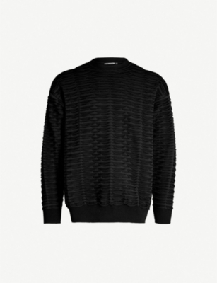 ISSEY MIYAKE Textured roll-knit cotton-blend jumper