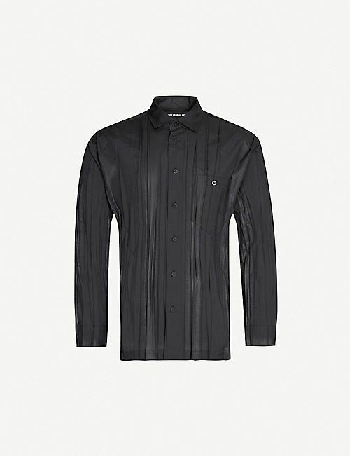 ISSEY MIYAKE Wrinkle crinkle-textured regular-fit woven shirt