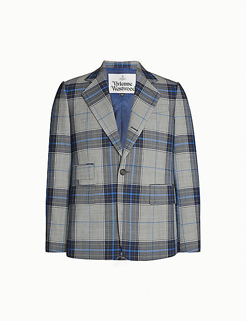 VIVIENNE WESTWOOD Checked single-breasted wool jacket