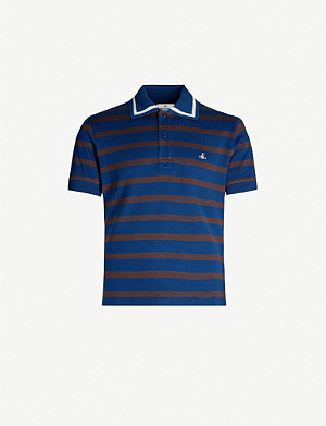 3ab011145 VIVIENNE WESTWOOD - Logo-embroidered organic cotton-piqué polo shirt ...