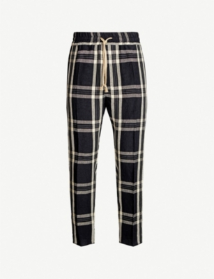 VIVIENNE WESTWOOD Tartan-print regular-fit linen trousers