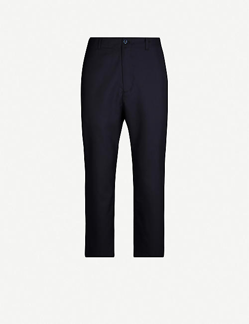OAMC Zip-embellished cropped tapered wool trousers