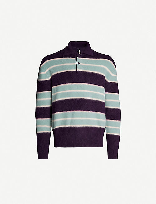 OAMC Striped wool-blend jumper