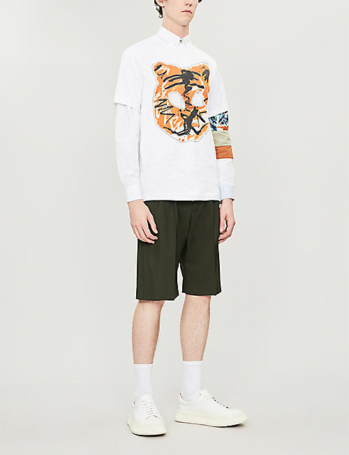 COMME DES GARCONS SHIRT Graphic animal-print cotton-jersey T-shirt