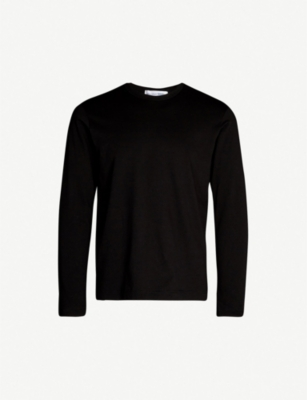COMME DES GARCONS SHIRT Branded-neckline crewneck cotton top