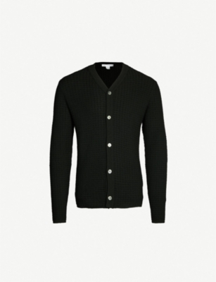 COMME DES GARCONS SHIRT Textured wool cardigan