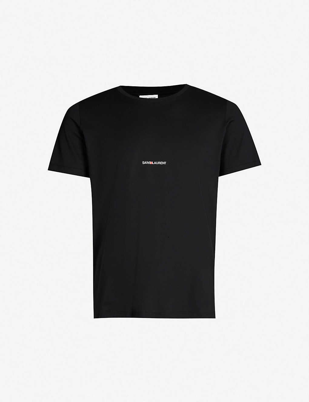 5334a7e1 SAINT LAURENT - Logo-print cotton-jersey T-shirt | Selfridges.com